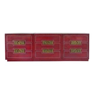 Mastercraft Mid Century Modern Burl Wood Dresser
