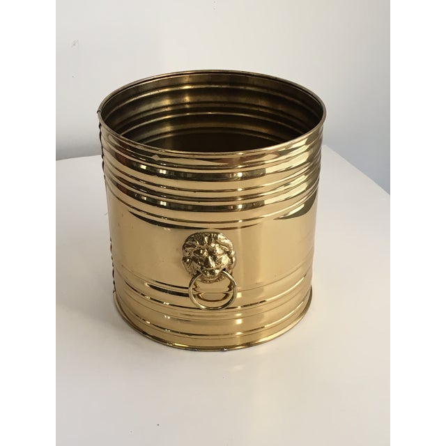 Lion Head Brass Planter, Made in England - Image 11 of 11