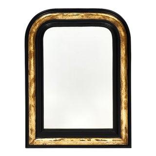 Napoleon III Period Black and Gold Mirror
