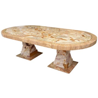 Muller Onyx Racetrack Dining Table