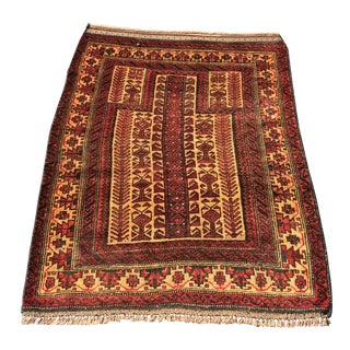 Vintage Persian Baluchi Prayer Rug - 3' X 4'3""