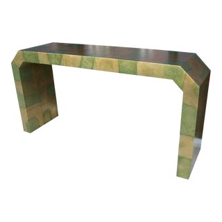 A Camouflaged Gold Leaf Console att. to James Mont