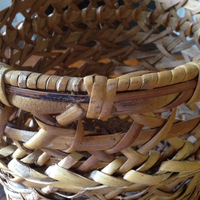 Large Vintage Rattan Planter Basket - Image 4 of 11