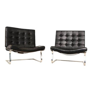 Ludwig Mies Van Der Rohe Tugendhat Lounge Chairs for Knoll - A Pair