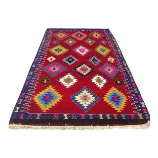 Vintage Turkish Kilim Rug - 5′11″ × 9′8″