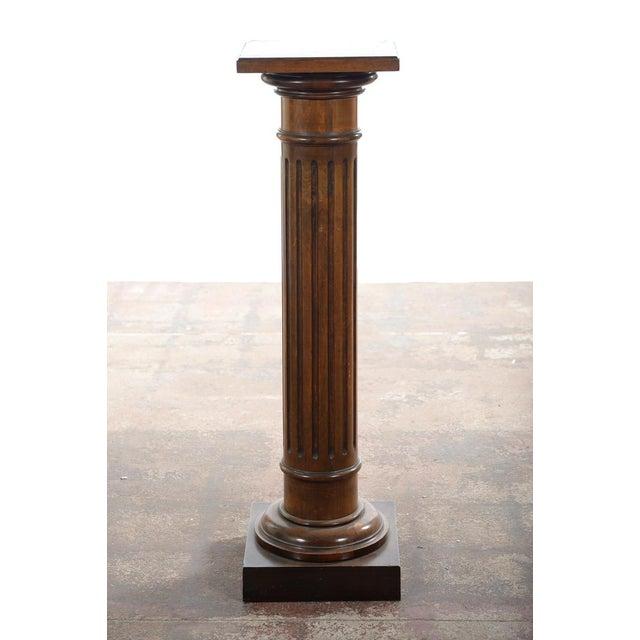 Antique Carved Colonial Walnut Pillar Pedestal - Image 7 of 10