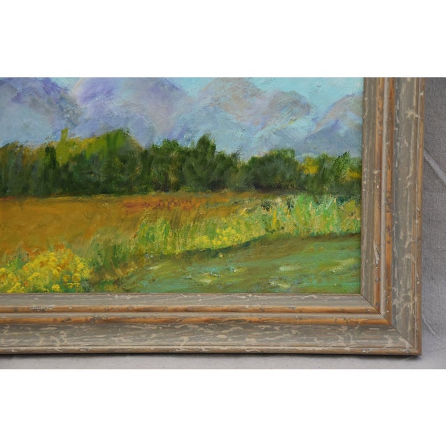 Framed Mountain Landscape Oil Painting - Image 4 of 9