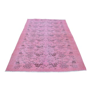 "Overdyed Turkish Pale Pink Rug - 64"" x 99"""