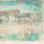 """Image of """"Homeward Bound"""" Lithograph by Edna Hibel"""