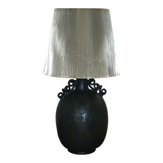 Teal-Black Table Lamp