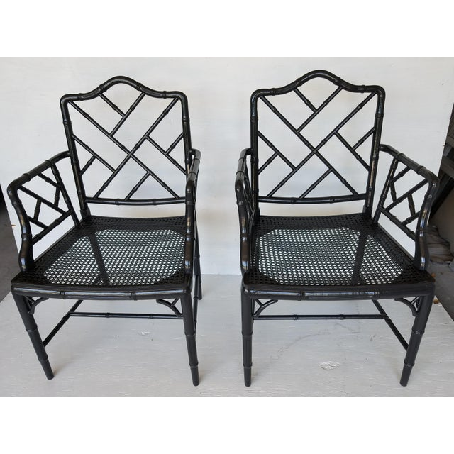 Vintage Wood Chippendale Chairs - Set of 6 - Image 3 of 7