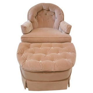 Mid-Century Modern Swivel Lounge Chair & Ottoman