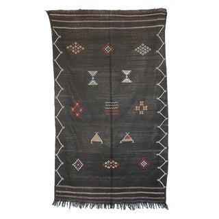 """Vintage Moroccan Cactus Silk Rug - 4'9"""" x 7'11"""""""