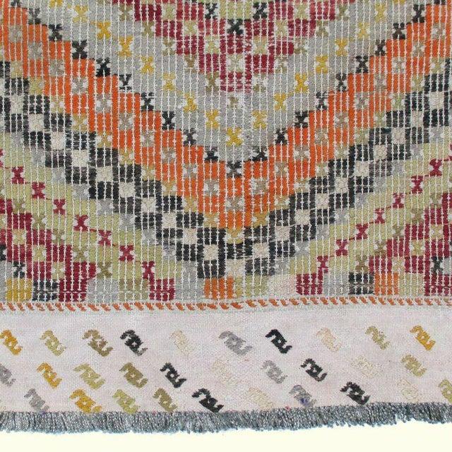 Vintage Turkish Flatweave Kilim - 3'2'' x 4'1'' - Image 4 of 4