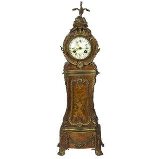 Miniature Ormolu-Mounted Burled Mantel Clock