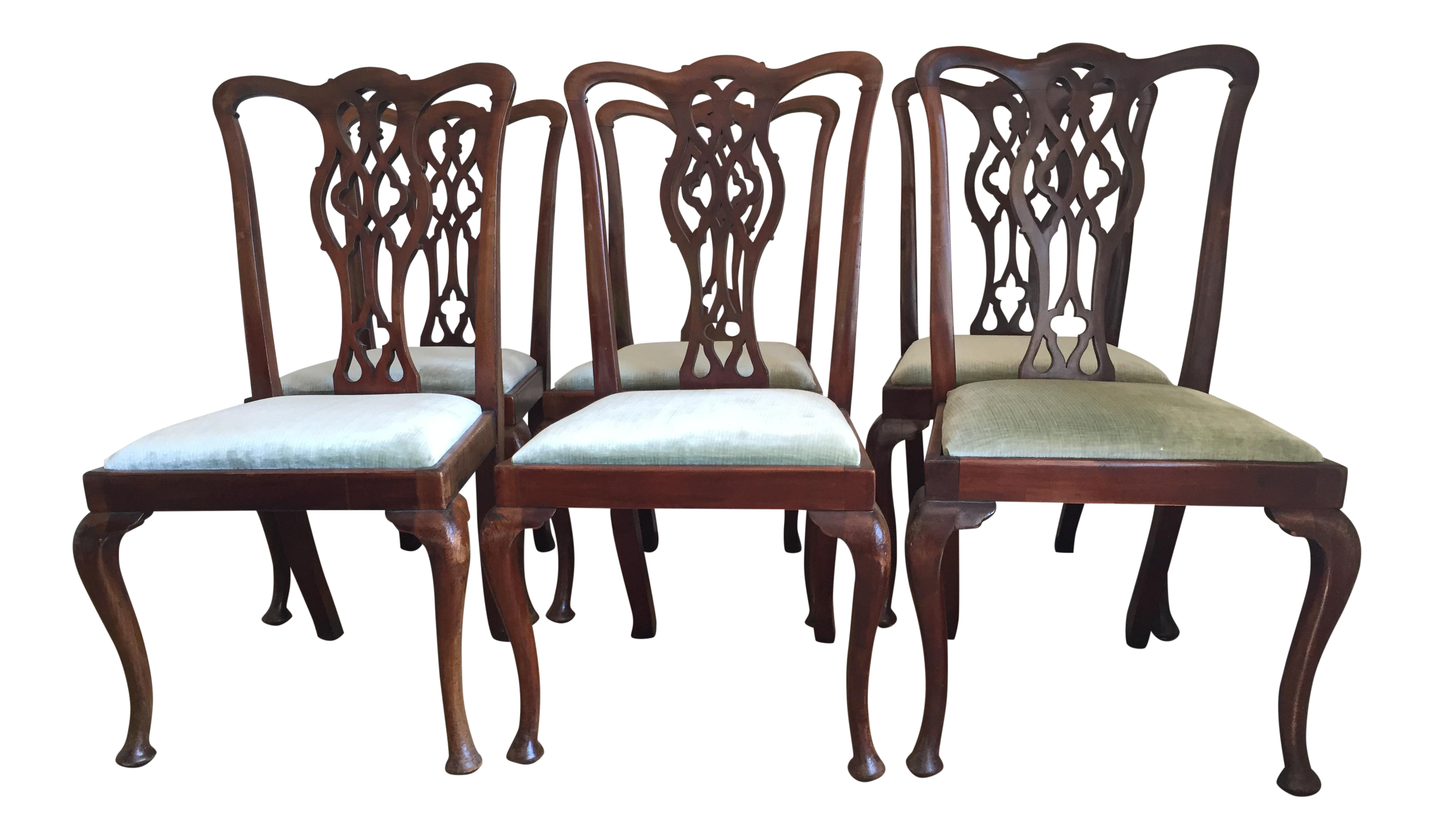 antique english 1870s mahogany chippendale chairs set of 6