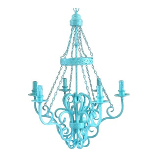 Wrought Iron Vintage 6-Light Chandelier