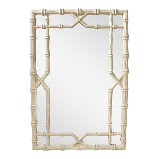 Large Hollywood Regency Faux Bamboo Mirror