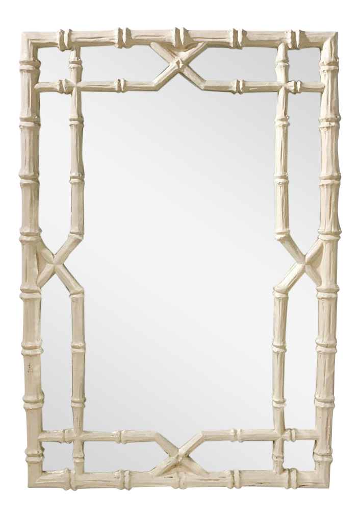large hollywood regency faux bamboo mirror - Bamboo Mirror