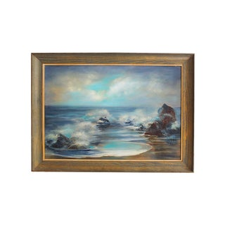 Shades of Blue Seascape Painting