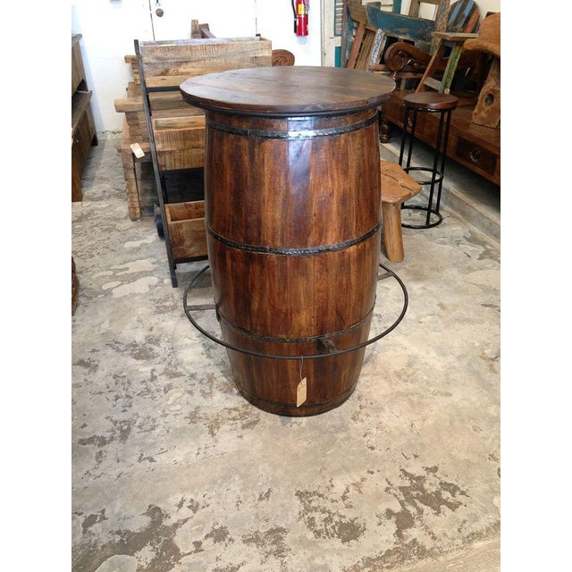 Image of Antique Barrel Bar Table