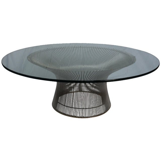 Warren platner coffee table by knoll chairish for Table warren platner