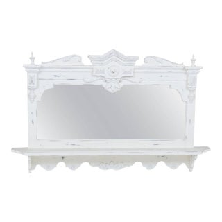 Swedish Style Hanging Mirror With Shelf