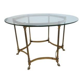 Vintage 6-Legged Louis XV Brass End Table