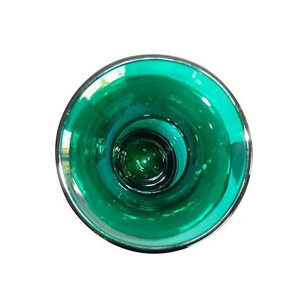 Blenko Handmade Deep Green Vase - Image 3 of 4