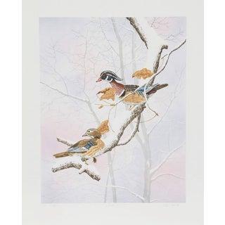 "Chris Forrest, ""Wood Ducks,"" Lithograph"