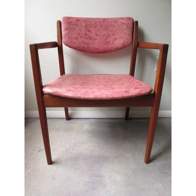 Image of Danish Modern Finn Juhl Teak Armchairs - A Pair