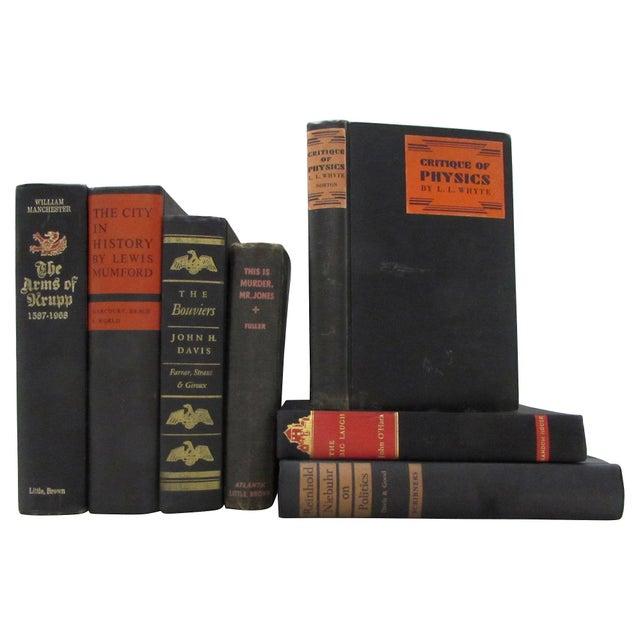 Image of Black & Red Decorative Books - Set of 7