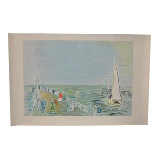 Vintage Color Lithograph by Raoul Dufy