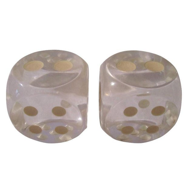 Vintage Lucite Dice - A Pair - Image 1 of 5