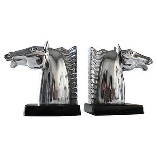 Art Deco Horse Bookends