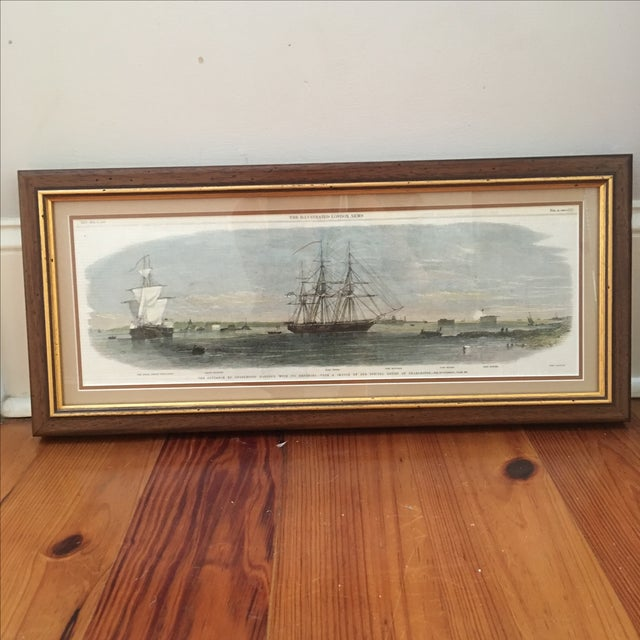 Framed Ships in Charleston Harbor Print - Image 2 of 10