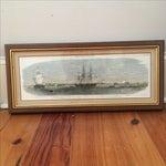 Image of Framed Ships in Charleston Harbor Print