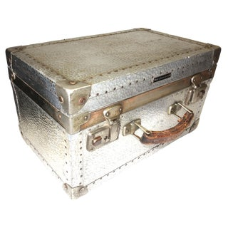 German Metal Cinematographers Camera Case circa Mid-20th Century. Gorgeous Patina, Hammered Metal Finish.
