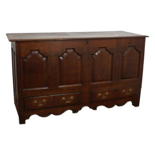 George II Oak Paneled Mule Chest
