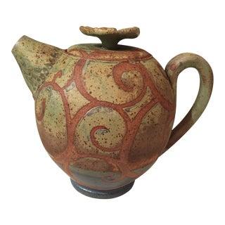 Liz Kinder Signed Stoneware Teapot