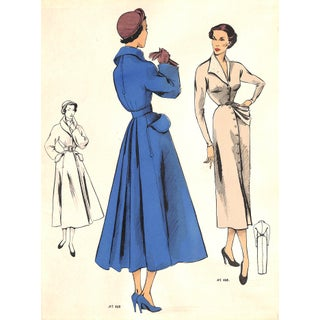 1950 French Fashion Inspirations - Coat and Dress