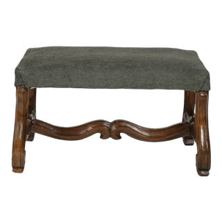 Period Louis XIV carved Os de Mouton walnut Bench circa 1680