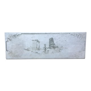 Etched Marble Roman Ruins