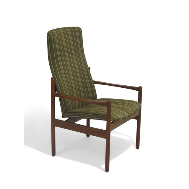 Mid-Century Danish Teak High-Back Lounge Chair - Image 2 of 9
