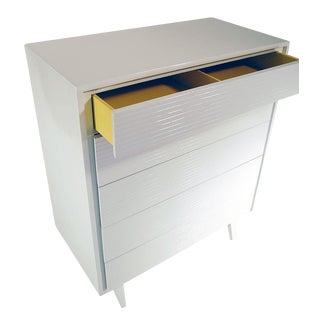 White Lacquered Mid-Century Modern Bureau