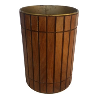 Vintage Gruvwood Trash Can Waste Basket