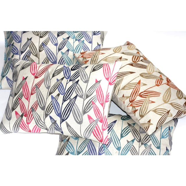 """Image of Linen Branches Pillow -14"""" x 20"""""""