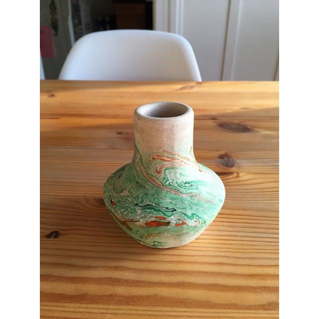 Image of Vintage Green Nemadji Pottery Vase