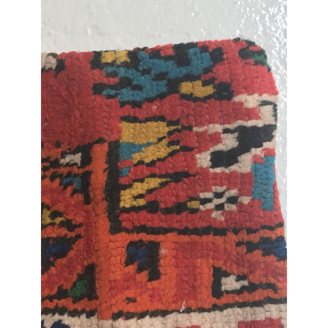 Vintage Moroccan Rug Wool Pillow - Image 4 of 11
