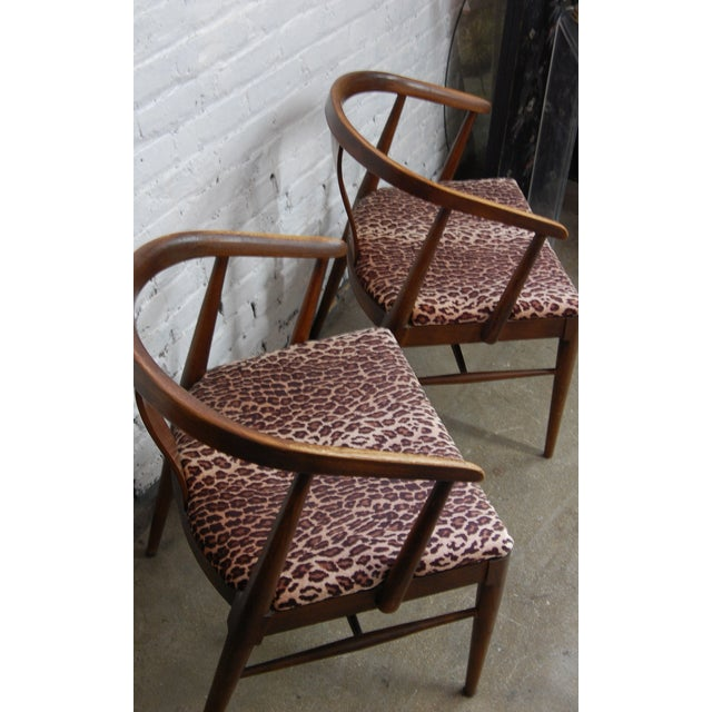 Mid-century Modern Leopard Arm Chairs - A Pair - Image 7 of 7